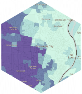 Map showing school proficiency