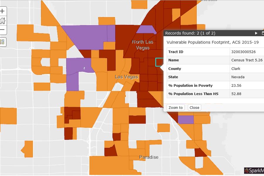 vulnerable population tool screenshot